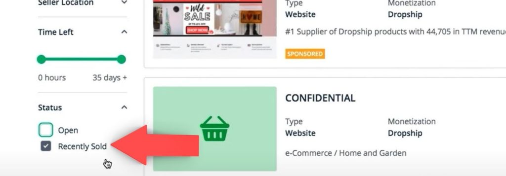 Flippa ecommerce stores recntly sold