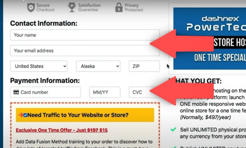 single page online checkout page design customer details